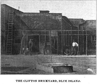 Blue Island, Illinois - The Clifton brickyard office, circa 1901