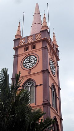 Clock tower of Thrissur Muncipal Corporation building.JPG