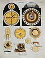 Clocks; faces (top), and mechanisms (below) of a Ferguson (r Wellcome V0023838ER.jpg