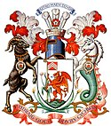 Coat of arms of Cardiff, Wales.