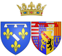 Coat of arms of Marie of Guise (mother of Mary, Queen of Scots) as Duchess of Longueville.png