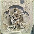Collectie Nationaal Museum van Wereldculturen TM-20029796 Relief op een grafsteen op de oude Joodse begraafplaats Beth Haim Curacao Boy Lawson (Fotograaf).jpg