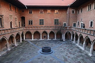 History of philosophy in Poland - Courtyard of Kraków University's Collegium Maius, a site of Polish higher learning since 1400