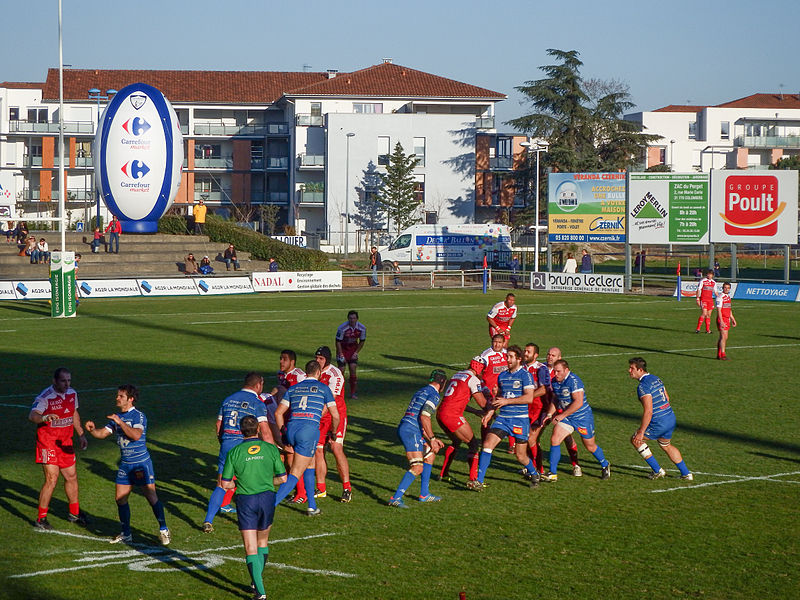 2013–14 Rugby Pro D2 season — 12 January 2014, Stade Michel Bendichou. Match between:  US Colomiers — US Dax