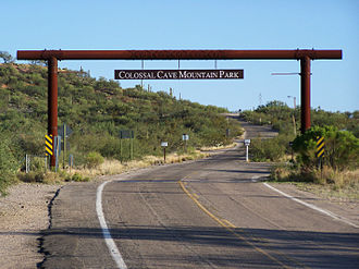 Colossal Cave (Arizona) - Entry to Colossal Cave Park