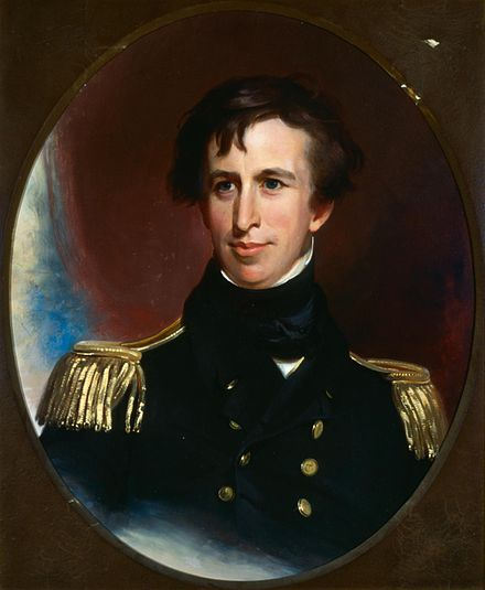 Lt. Charles Wilkes, U.S.N., commander of the U.S. Navy's United States Exploring Expedition, 1838-42 Commodore Charles Wilkes, commander of the United States Exploring Expedition 1838 - 1842.jpg