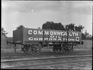 Goods wagon - Commonwealth Oil Corporation goods wagon in Australia