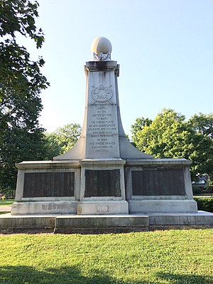 Garfield Park (Indianapolis) - North face of the Confederate Soldiers and Sailors Monument