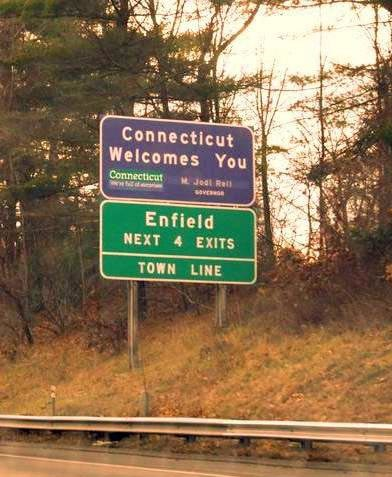 Connecticut Welcomes You Sign