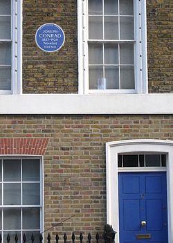 Photo of Joseph Conrad blue plaque