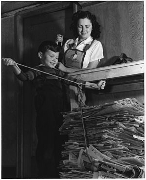 Ann Rosener - Image: Conservation of waste paper will save millions annually for Uncle Sam. NARA 196241