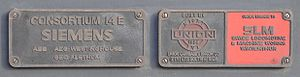South African Class 14E1 - Builders' plates