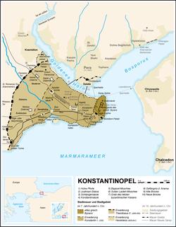 MERCENARIOS GENOVESES ¿por qué fueron tan buenos enemigos? 250px-Constantinople_map_German