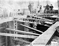 Construction crew at work on the intake at Snoqualmie Falls, 1900 (SPWS 310).jpg