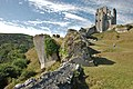 Corfe Castle, Damaged by Gunpowder - geograph.org.uk - 1722720.jpg