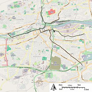 Cork Electric Tramways and Lighting Company - Map of Cork City Electric Tramways