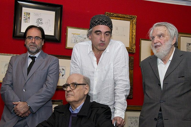 File:Coscia, Rep, Bayer y Quino en la inuguración de Rep ...
