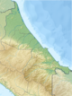Costa Rica Limon relief map.png