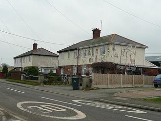 Westbury, Shropshire - Council houses in Westbury