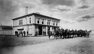 Regina, Saskatchewan - The Regina Court House during Louis Riel's trial in 1885. He was brought to Regina following the North-West Rebellion.