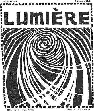 Joris Minne - Cover of Lumière, September 1919