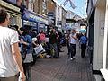 Cowes High Street Bestival 2010 shuttle bus queue 2.JPG
