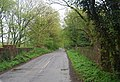 Cox Green Rd crosses the old Railway line, now the Downs Link - geograph.org.uk - 1875729.jpg