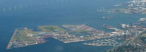 Nordhavn, Copenhagen - Aerial view of Nordhavn, before expansion