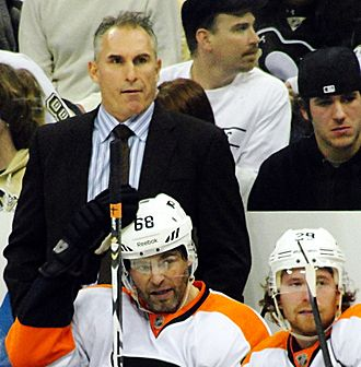 Craig Berube - Berube pictured as assistant coach of the Philadelphia Flyers in 2011