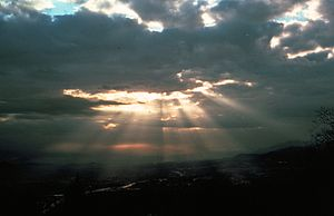 In several cultures, the sun is the source of an analogy to God.