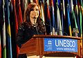 Cristina Fernández de Kirchner en la Unesco París 2011-09-14.jpg