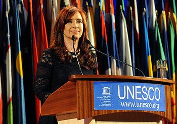 Cristina Fern%C3%A1ndez de Kirchner en la Unesco Par%C3%ADs 2011-09-14
