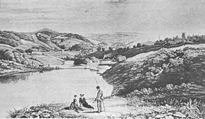 Crookes - View from Crookes towards Upperthorpe in 1826.