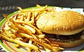 Crown Burger Plus hamburger and fries.jpg