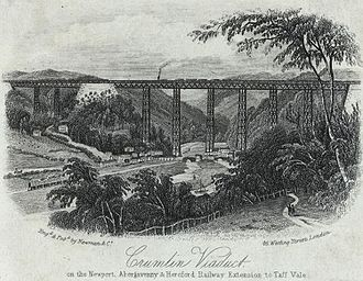 Warren truss - Image: Crumlin viaduct on the Newport, Abergavenny & Hereford railway extension to Taff vale (1132812)