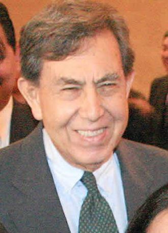 Institutional Revolutionary Party - Cárdenas, seen here in 2002, split from the PRI, running unsuccessfully for president in 1988 and 1994