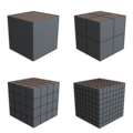 Cube simple subdivisions (0-3).png