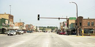 Custer, South Dakota - The main street in 2003