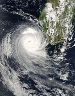 Cyclone Favio near Madagascar