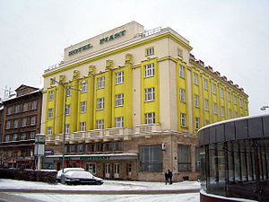 Polish minority in the Czech Republic - Hotel Piast in Český Těšín, one of the architectural symbols of the Polish minority