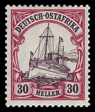 Postage stamps and postal history of the German colonies - Image: D Ostafrika 1909 35