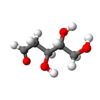 Deoxyribose - Image: D deoxyribose chain 3D balls