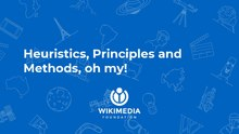 A presentation detailing how to use the Wikimedia mission and values when evaluating product.
