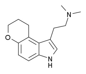 1-(2-Dimethylaminoethyl)dihydropyrano(3,2-e)indole - Image: DHPDMT structure