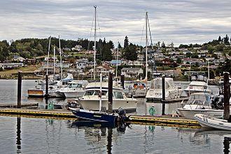 Hansville, Washington - The Driftwood Key Marina in Hansville pictured in August 2015.