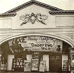 Liberty Theater, Electra, showing a Mary Pickford movie in 1919.