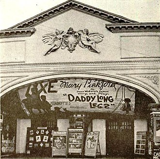 Electra, Texas - Liberty Theater, Electra, showing a Mary Pickford movie in 1919.