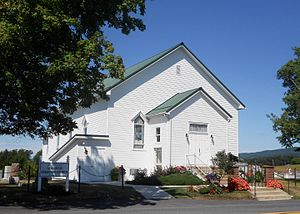 Thompson Township, Fulton County, Pennsylvania - Damascus Christian Church in August 2015
