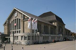 Darmstadt Hauptbahnhof railway station in Darmstadt, Germany