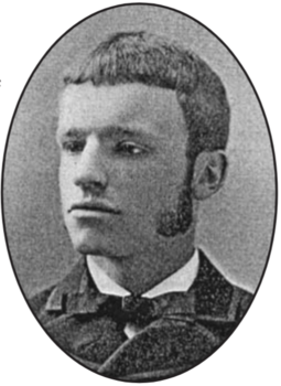 Buel as a student at Yale in 1883 David H. Buel at Yale.png